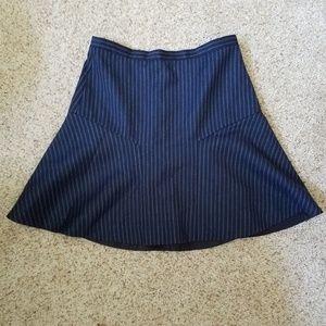J. Crew Navy Striped A-Line Skirt
